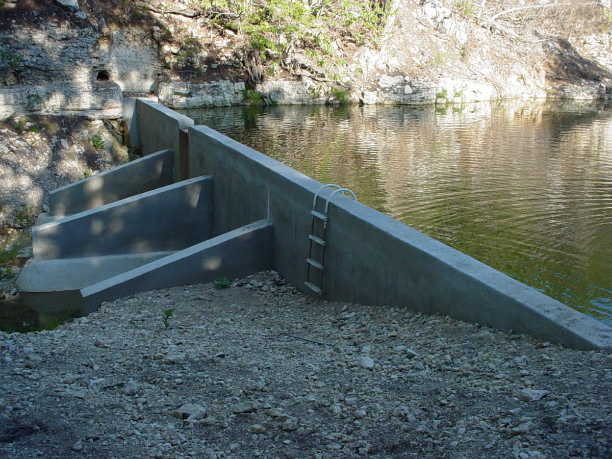 Lakes ponds and dams sides triple s services llc for Concrete pond design